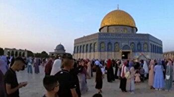 Eid al-Adha prayers held at Aqsa Mosque in Jerusalem