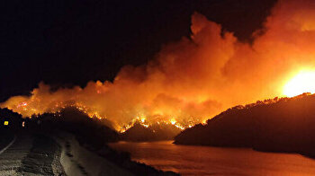 Villagers evacuated as firefighters combat another forest fire in southern Turkey