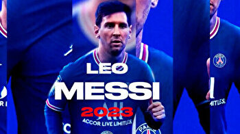 Paris SG football club announces Messi transfer with special video