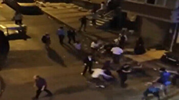 Hooligans attack police after being warned for playing loud music in Turkey