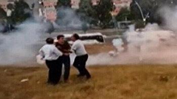 Boom! Firework explodes between wedding guests