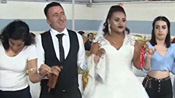 Ethiopian bride dances till she drops during her wedding to Turkish groom