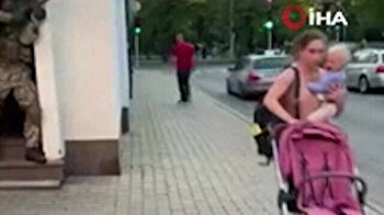 Latvians freak out as soldiers conduct military drill in middle of street