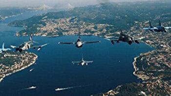 Breathtaking footage reveals dazzling Turkish, Azerbaijani air show at Teknofest