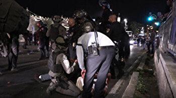 Israeli forces intervene Palestinians in Jerusalem
