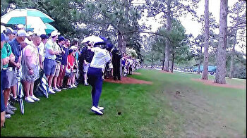 Tiger Woods twists ankle after security guard takes him out at 2019 Masters