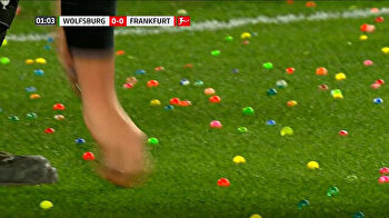 Fans delay match by throwing Easter eggs on pitch