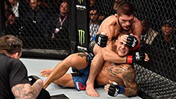 Muslim wrestler Nurmagomedov makes Poirier tap to unify UFC lightweight title