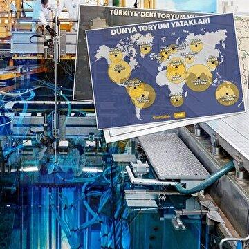 Türkiye dünyanın en zengin Toryum madenlerine sahip ülkelerden biri olarak gösteriliyor.