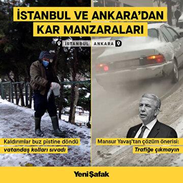 istanbul-ve-ankaradan-kar-manzaralari