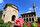 Adını mimarisindeki alacalıktan alan bu tarihi yapının mimarı İshak Bey. Dönem camilerinin çoğu bir sultan, bey, paşa veya bir makam sahibi kişinin mali desteği ile yapılırken, Alaca Camii Kalkandelenli iki kız kardeşin mali desteği ile yapılmasıyla oldukça farklı bir hikâyeye sahip.