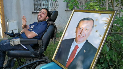 Erdogan makes disabled man's dream come true with phone call