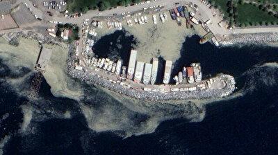 Satellite photos show extent of mucilage in Sea of Marmara