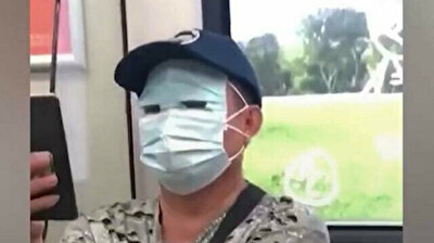 Corona scare: Chinese citizen covers entire face in creepy mask