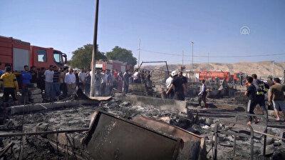 Fire broke out in Yazidi camp in Iraq
