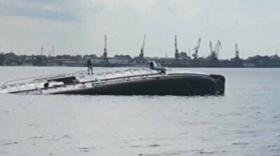 Russian crew escapes imminent death as ship sinks into oblivion