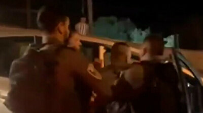 Occupant Israeli forces manhandle Palestinian youths before arresting them