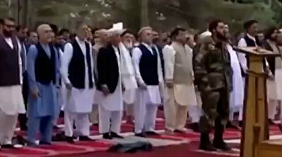 Moment rockets landed near Afghan presidential palace in Kabul
