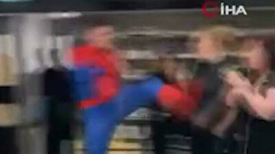 Spider-Man kicks woman in the throat, punches her face in UK supermarket
