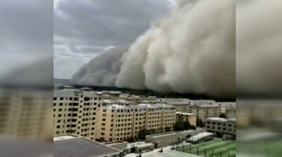 Massive sandstorm engulfs ancient city in China