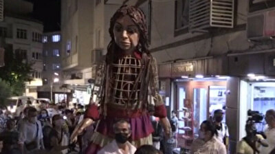 Syrian refugee puppet 'Little Amal' embarks on journey from Turkey's Gaziantep to UK