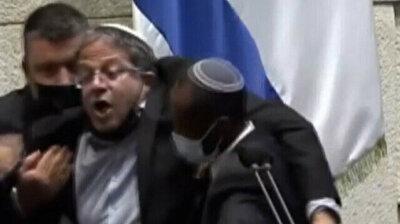 Netanyahu ally dragged off Knesset podium after calling Arab chairman a 'terrorist'