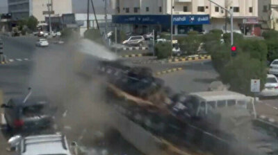 Two dead after truck rams into vehicles waiting at red light in Saudi Arabia