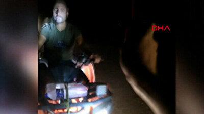 Despicable men drive ATVs on beach hosting Caretta Caretta nests in southern Turkey