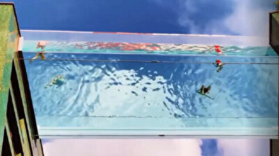 Transparent 'Sky Pool' offers unique swimming experience in London
