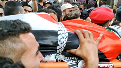 Funeral held for Palestinian young father shot by Israeli forces in Nablus