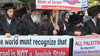 'Israel is not a Jewish state': Orthodox Jews protest Israeli PM's UN speech