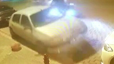 Out-of-control car hits parked vehicles before doing cartwheel in Istanbul