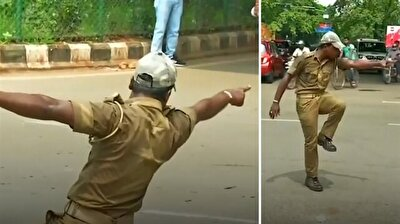 Dancing traffic cop keeps streets safe in India
