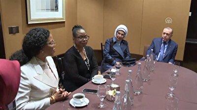 Erdoğan meets Malcolm X's daughters in New York