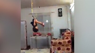 Little child puts on stellar acrobatic show
