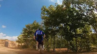 Drone captures incredible freestyle motocross stunts