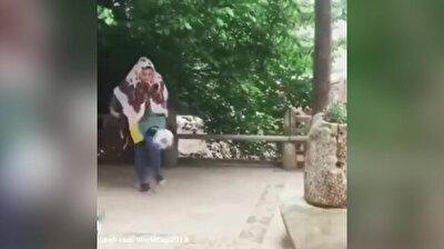 Iranian girl shows off impressive soccer skills