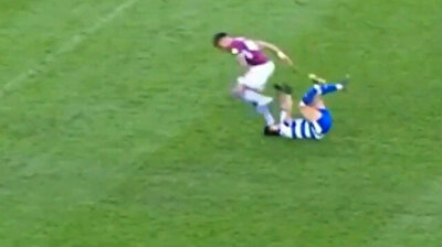 Brutal moment Aston Villa star Mings stamps on rival's face
