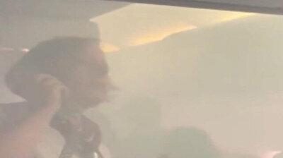 لحظات مرعبة داخل طائرة بريطانية كادت تحترق
