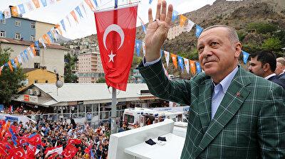President Recep Tayyip Erdoğan in northeastern Turkey