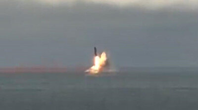 Russia test fires ballistic missiles from submarines in the Barents Sea