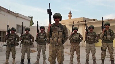Tel Abyad'daki askerlerimizden asker selamı veren Milli Takım ve sporculara mesaj