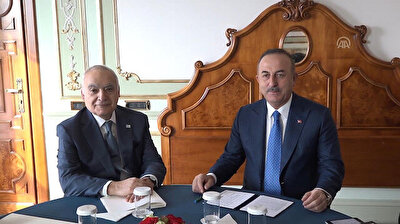 Turkish foreign minister receives UN's Libya envoy in Rome