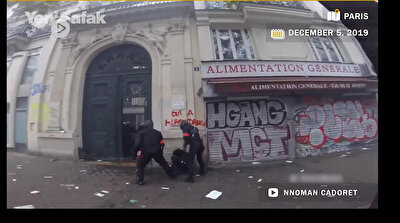 Shocking footage reveals French police almost beating protestor to death!