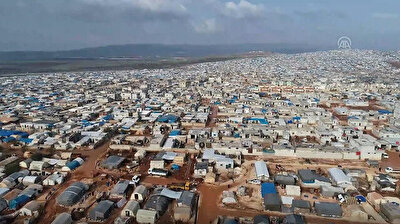 Tent cities in northern Syria's Idlib overcrowded