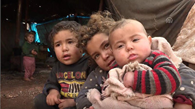 Thousands of Syrians struggle to survive in tent cities of Idlib, N. Syria