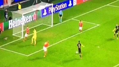 Yasin Öztekin'in Benfica maçındaki pozisyonu