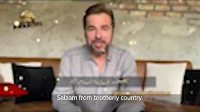 'Resurrection Ertugrul' star wishes Pakistani fans Eid Mubarak on PTV