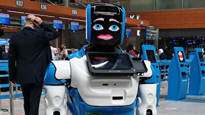'Aerobot' assists in COVID-19 measures at Istanbul's Sabiha Gökçen Airport
