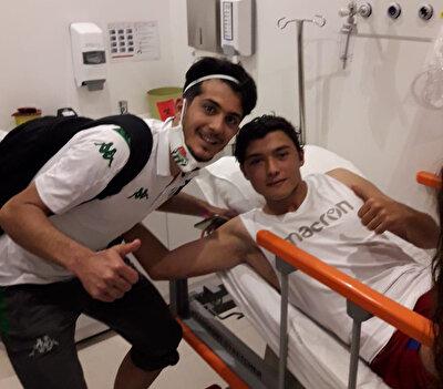 Tayfur Bingöl hastaneye giderek Batuhan Kırdaroğlu'nu ziyaret etti.